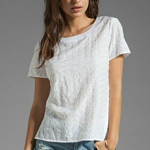 Marc Jacobs White Eyelet Top